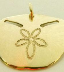 9ct yellow gold pansy shell pendant by dazzling jewellers in knynsa