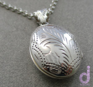 Sterling Silver Engraved Locket sold by Dazzling Jewellers2
