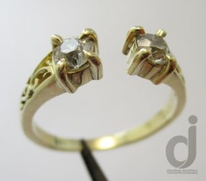 18ct yellow gold and diamonds ring