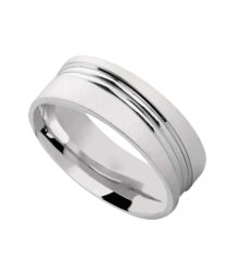 S03777-0-P Silver wedding band available from Dazzling Jewellers