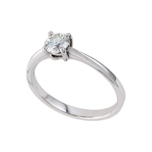 D03389.0.15-18-N Solitaire 4-claw 18ct white gold ring sold by Dazzling Jewellers