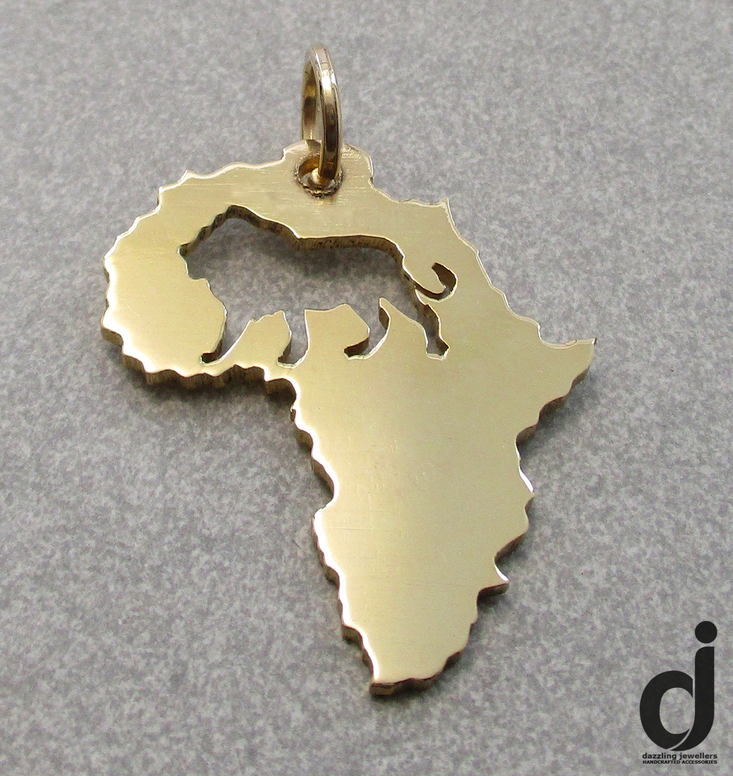 Gold plated Lion Africa Pendnat made by Dazzling Jewellers