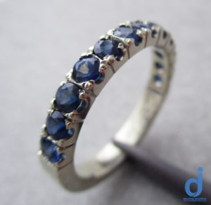 sapphire eternity ring made by dazzling jewellers2