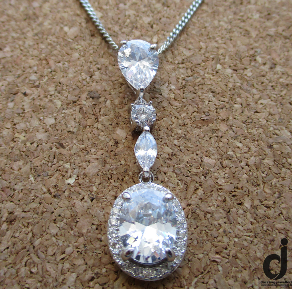 fancy cubic zirconia pendant sold by dazzling jewellers 2 sspd228