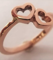 heart ring made by dazzling jewellers