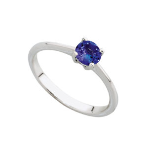 Tanzanite Solitaire ring sold by dazzling jewellers