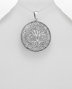 925 Sterling Silver Celtic Tree Of Life Pendant from dazzling jewellers