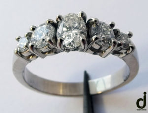 Diamond and white gold ring made by dazzling jewellers