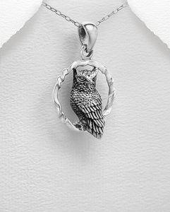Owl pendant sold by dazzling jewellers