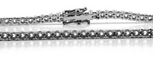 Tennis Bracelet 18ct White Gold 280ct 400