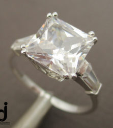 Princess Cut Ring sold by dazzling jewellers1