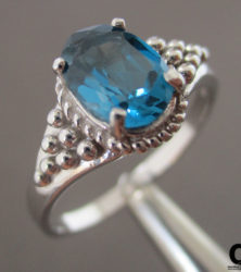londonblue blue topaz ring sold by dazzling jewellers