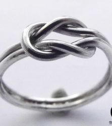 infinity knot ring made by dazzling jewellers